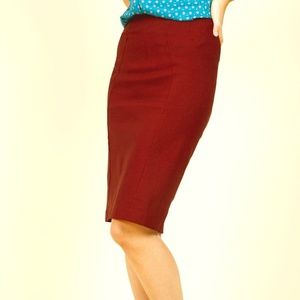 Modcloth Pencil Skirt in Burgundy